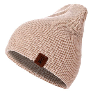 "Soft Knitted Beanie Letter ""TRUE""  Warm Winter Hats"
