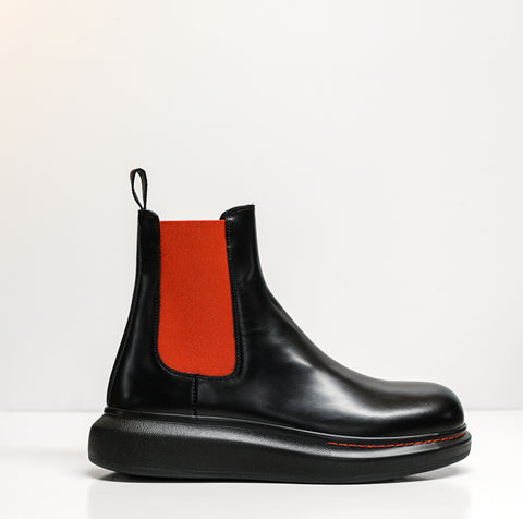 Alexander McQueen Men's Black & Red Boots 586198