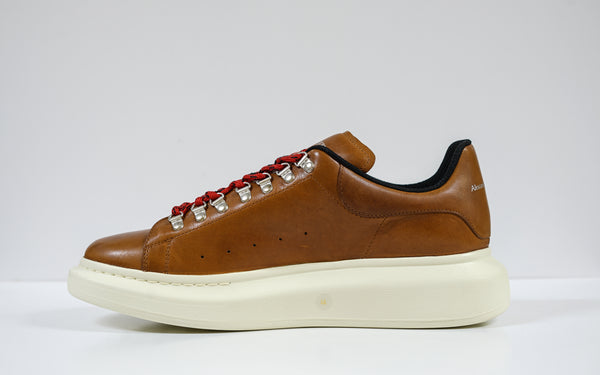 Alexander McQueen Men's Rust Leather Sneaker 604248