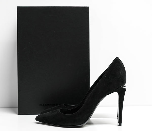 Alexander Wang Black Suede Pump 3099