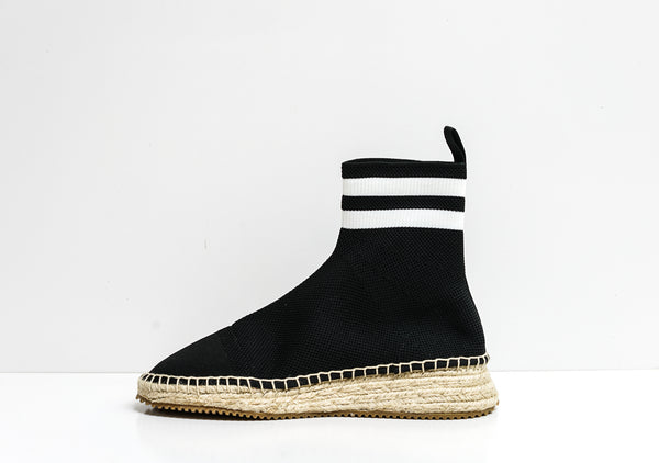 Alexander Wang Black & White Knit Boot Dylan 33048E