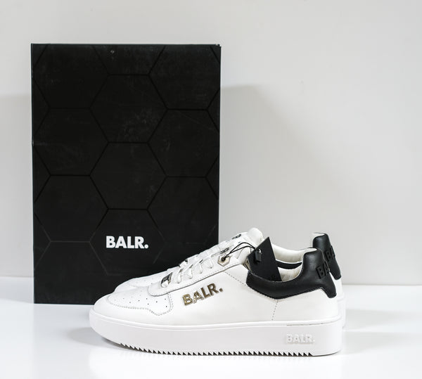 BALR. White Leather Logo Sneakers