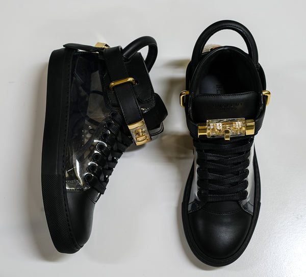 Buscemi Women's Black & Crystal Leather Hi Top Sneakers W117SU