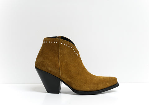 Celine Women's Suede Tan Texan Ankle Boots 3330213