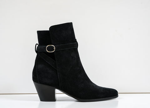 Celine Women's Black Suede Ankle Boot 3335003