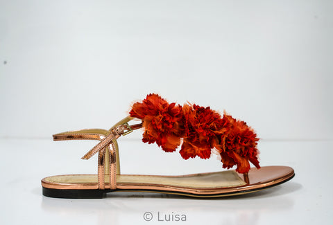 Charlotte Olympia Copper Floral Exotic Sandal
