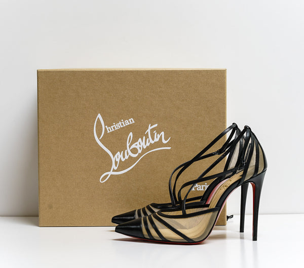Christian Louboutin Black Leather Shoe Theodorella 100 3190543 - 35 Last Size