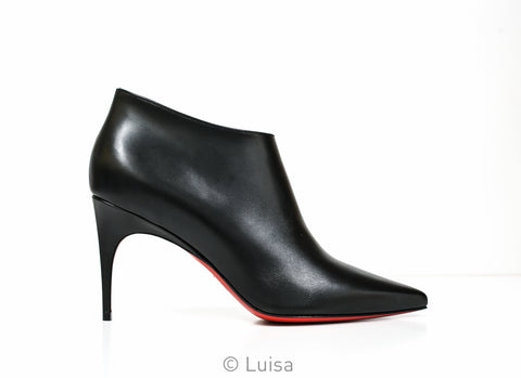 Christian Louboutin Ladies Black Leather Ankle Boot Gorgona 3190567