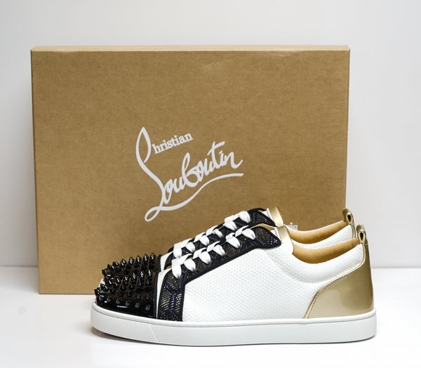 Christian Louboutin Men's Louis Junior Spikes Orlato Sneaker 3200992 - 44 Last Size