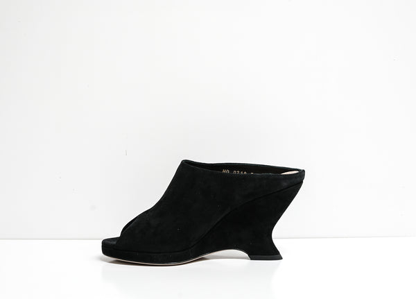 Dior Women's Black Suede Wedge KCQ215