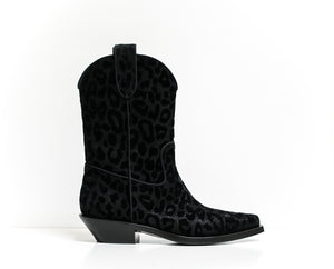 Dolce & Gabbana Black Texan Boot Texano Notturno CT0454