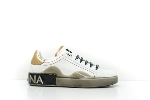 Dolce & Gabbana Men's White Logo Sneakers CS1587