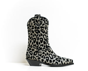 Dolce & Gabbana Silver & Black Texan Boot Texano Notturno CT0454