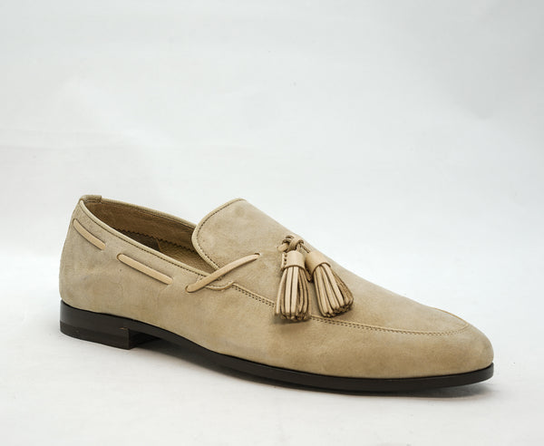 Fabi Men's Beige Suede Slip On Loafer 8951B