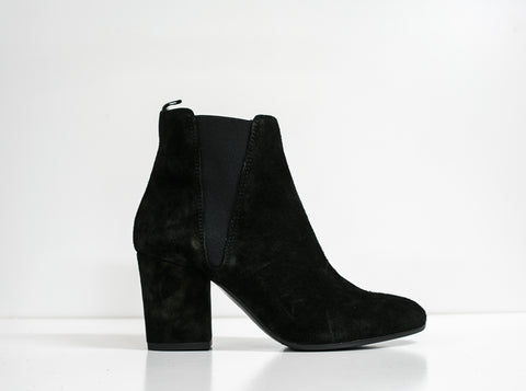 Fabio Rusconi Black Velour Ankle Boot VIKY914