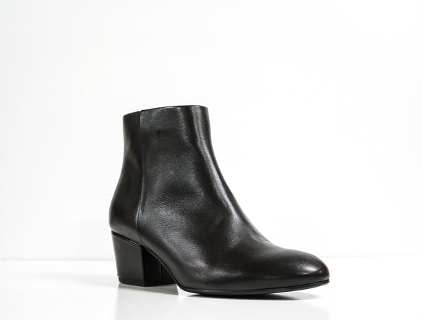 Fabio Rusconi Black Leather Ankle Boot MATY948