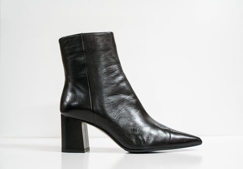 Fabio Rusconi Black Leather Ankle Boot Zara