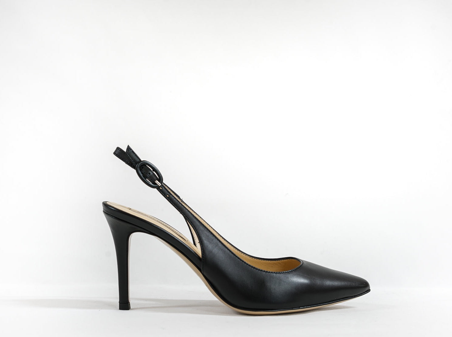 Fabio Rusconi Black Leather Slingback Bono FB