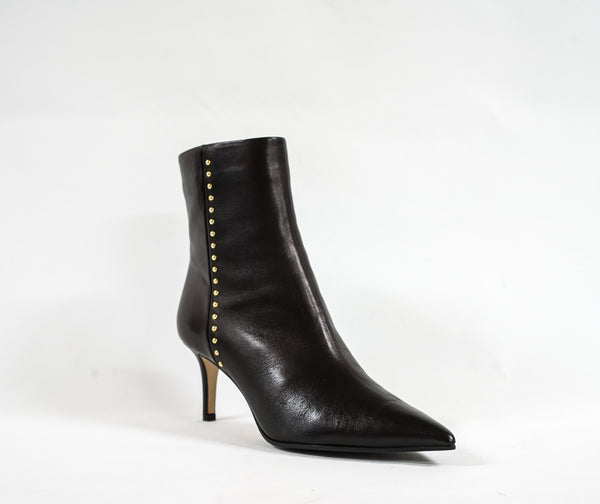 Fabio Rusconi Black Leather Stud Boot Onda