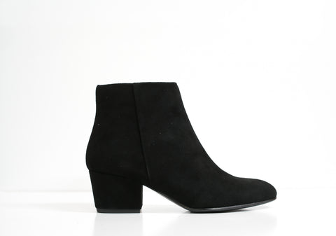 Fabio Rusconi Black Suede Ankle Boot Salvia