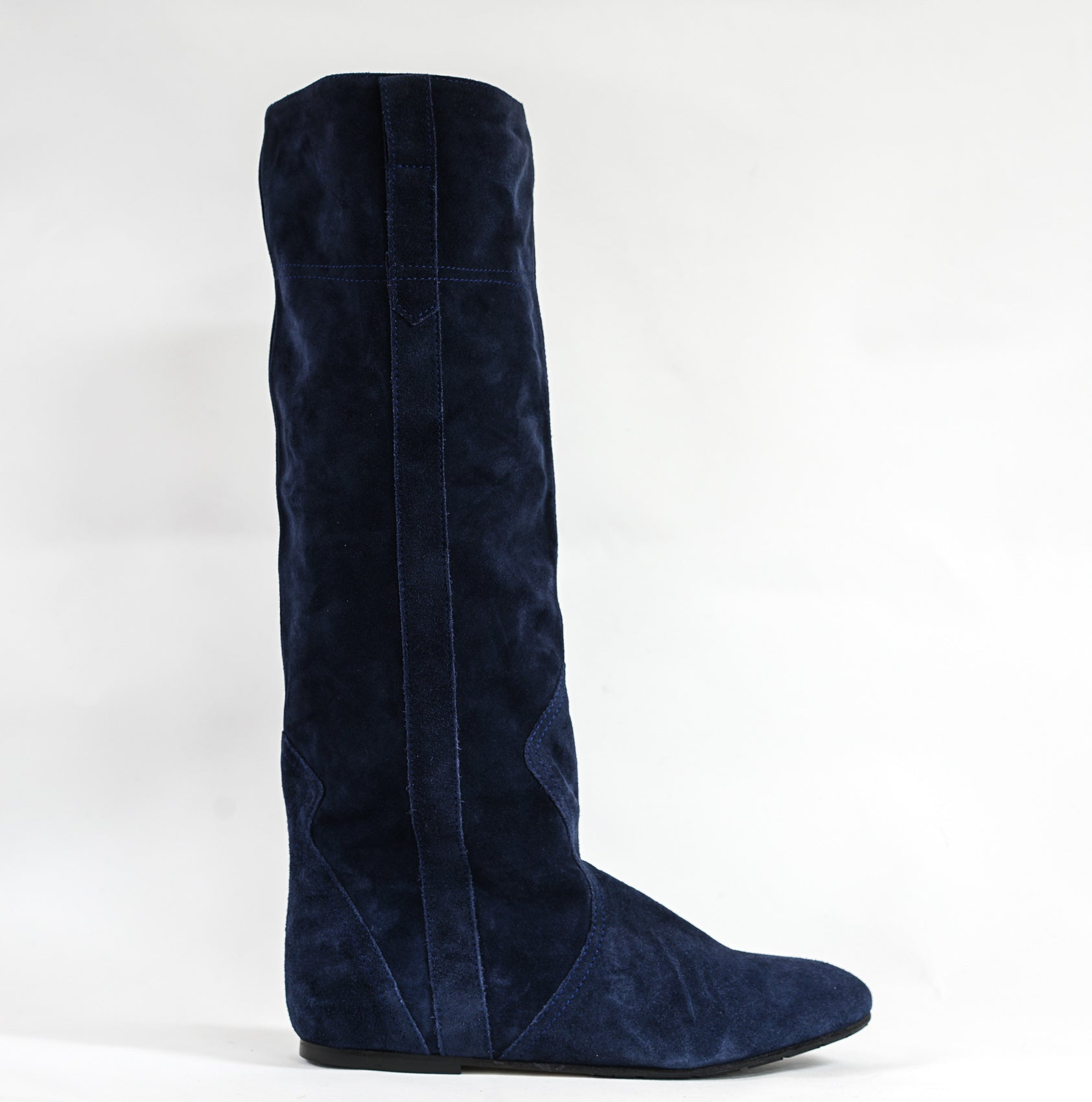 Fabio Rusconi Blue Suede Slouch Boot F98801
