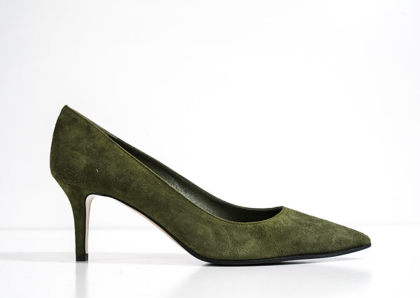 Fabio Rusconi Italian Women's Green Suede Heel Milly