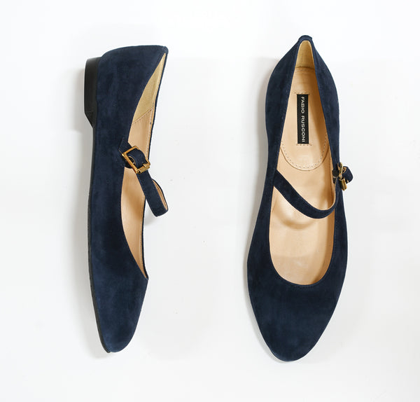 Fabio Rusconi Navy Suede Mary Jane R4422