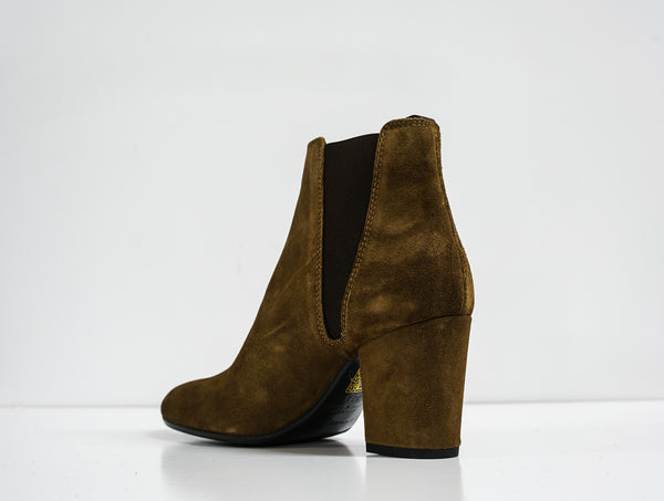 Fabio Rusconi Tabac Velour Ankle Boot VIKY914