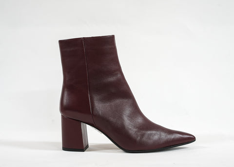 Fabio Rusconi Wine Leather Ankle Boot Zara