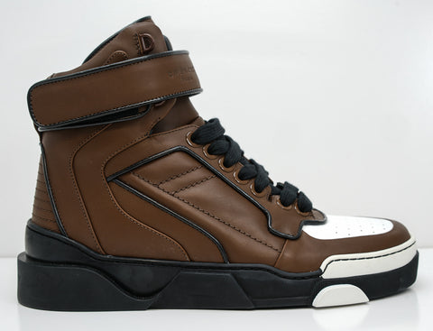 Givenchy Men's Brown Leather Hi Top Boot 80678