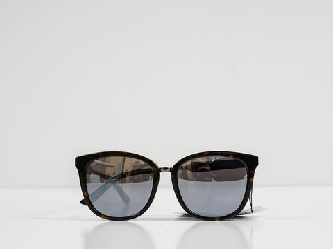 Gucci Tortoise Shell Sunglasses with Mirror GG0073