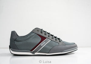 Hugo Boss Men's Grey Sneaker Saturn 50414731