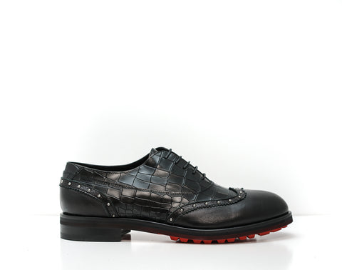 John Richmond Men's Black Stamped Lace Up Shoe 7580