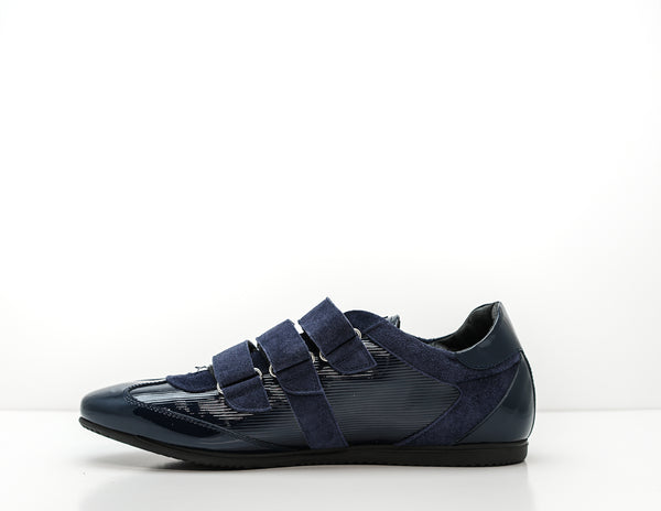 John Richmond Men's Blue Patent Sneaker 6463