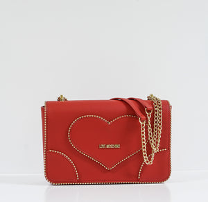 Love Moschino Red & Gold Heart Bag JC4243