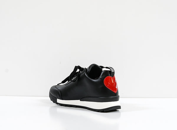 Love Moschino Women's Black Heart Sneaker JA15722