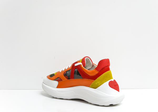 Love Moschino Women's Orange Sneaker JA15305