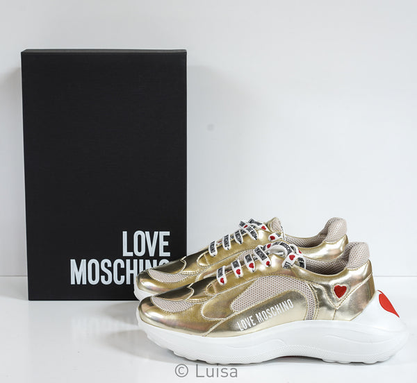 Love Moschino Women's Platinum Sneaker JA15286