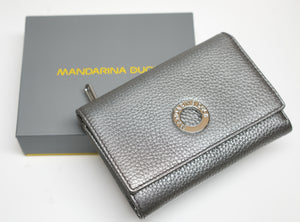 Mandarina Duck Lead Leather Wallet Mellow Lux P10ZLP65