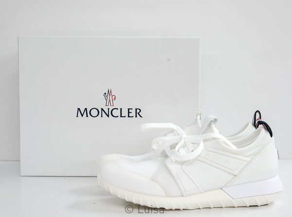 Moncler Women's White Sneakers A2021 - Last size 39