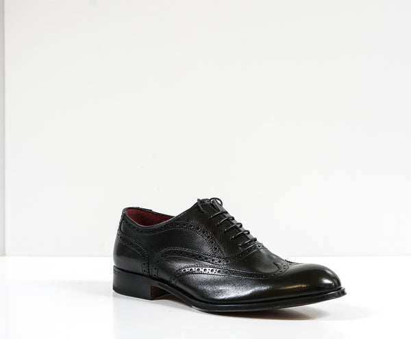 Moreschi Silver Line Men's Black Detail Leather Lace Up 228702