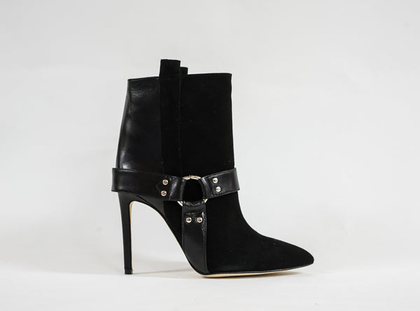 Paris Texas Black Suede Ankle Boots PX121