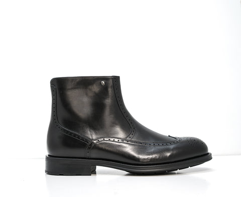 Roberto Serpentini Black Leather Detail Boot 50705