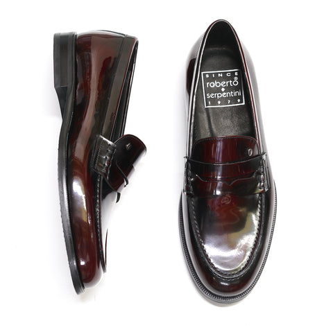 Roberto Serpentini Bordo Patent Leather Loafer 55740
