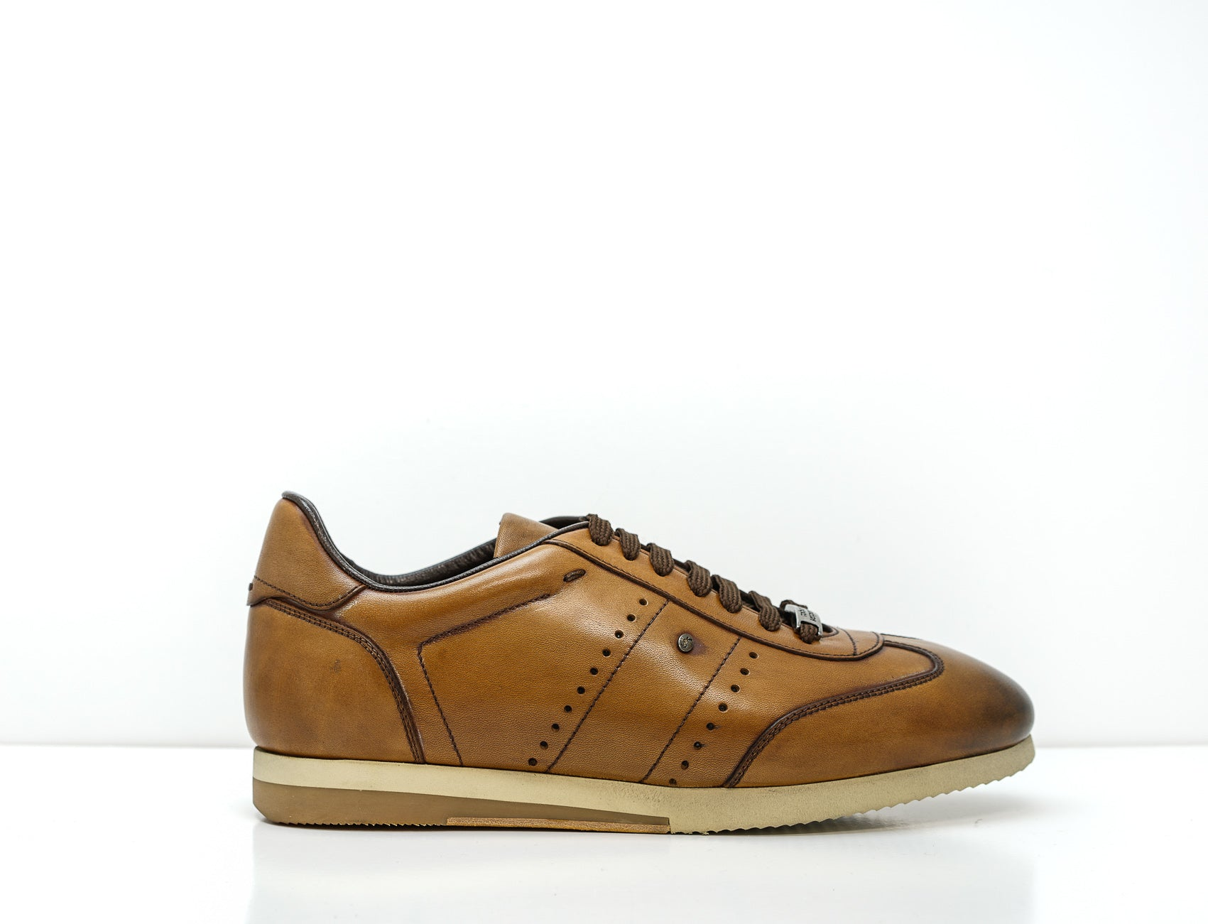 Roberto Serpentini Cognac Leather Sports Lace Up 48311