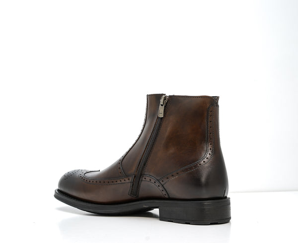 Roberto Serpentini Marrone Leather Detail Boot 50705