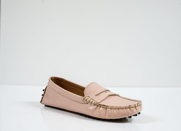 Roberto Serpentini Women's Pink Leather Moccasin 4793