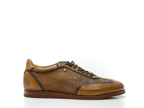 Roberto Serpentini Tan Leather Sports Lace Up 56602