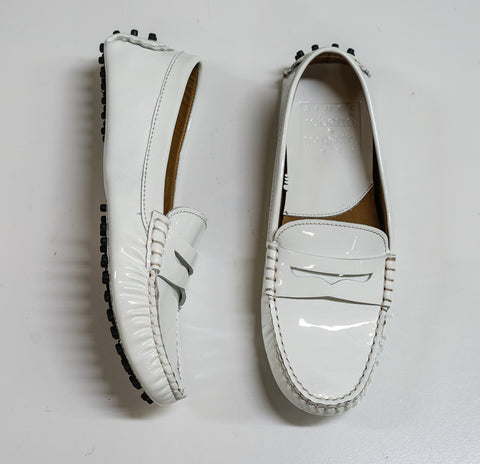 Roberto Serpentini Women's White Patent Leather Moccasin 4793