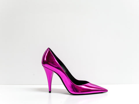 Saint Laurent Metal Fuchsia Pump Kiki 100 Pump 578599